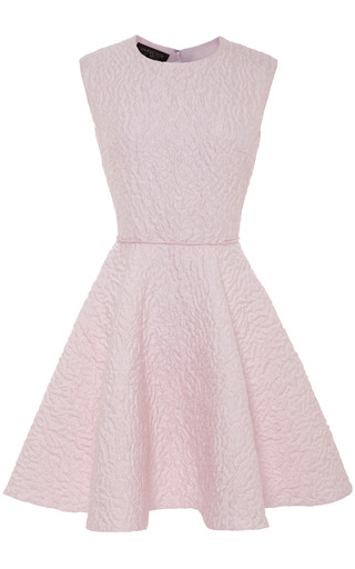 Medium giambattista valli pink leopard jacquard short dress