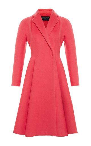 Medium giambattista valli coral flared wool coat