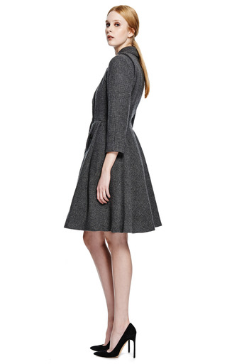 Chanel Grey Cashmere And Wool Coat From What Goes Around Comes Around by COLLECTIBLE JACKETS for Preorder on Moda Operandi
