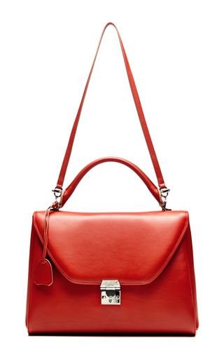 Large Scottie Bag In Rust by MARK CROSS for Preorder on Moda Operandi