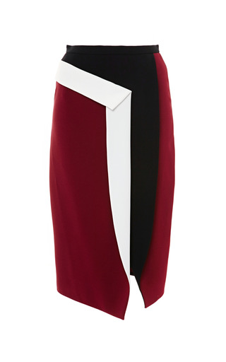 Medium peter pilotto burgundy mila skirt