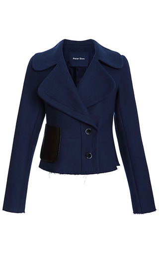 Wool Twill Coating Jacket by PETER SOM for Preorder on Moda Operandi
