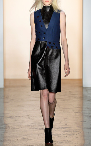 Wool Twill Coating Sleeveless Dress by PETER SOM for Preorder on Moda Operandi