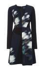 Mega Rose Cady Stretch V Neck A Line Dress by PETER SOM for Preorder on Moda Operandi