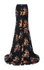 Small Rose Silk Twill Long Skirt by PETER SOM for Preorder on Moda Operandi