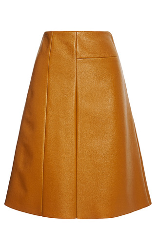 Medium peter som brown coated wool a line skirt