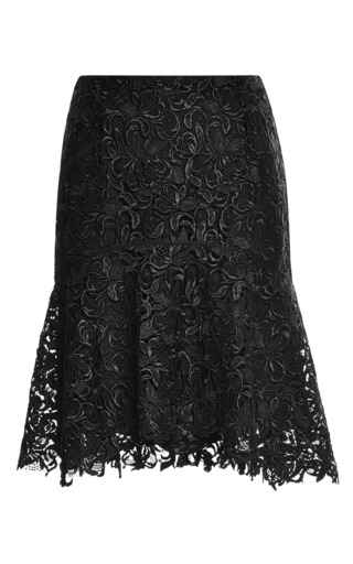 Medium nina ricci black lace skirt