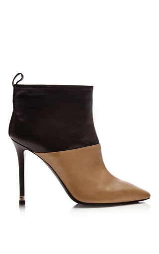 Medium nicholas kirkwood black beige and black calf leather tubo boots