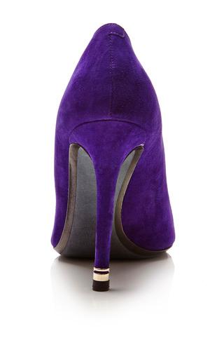 Purple Suede Pump With Metal Heel by NICHOLAS KIRKWOOD for Preorder on Moda Operandi