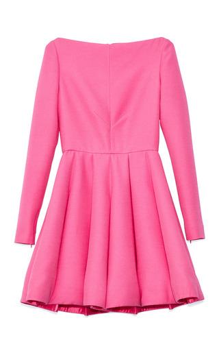 Medium valentino wool and silk blend crepe a line dress