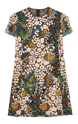 Medium valentino multi cotton blend giupure lace mini dress