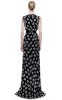 Floral Print Silk Chiffon Ruffle Gown by PRABAL GURUNG Now Available on Moda Operandi