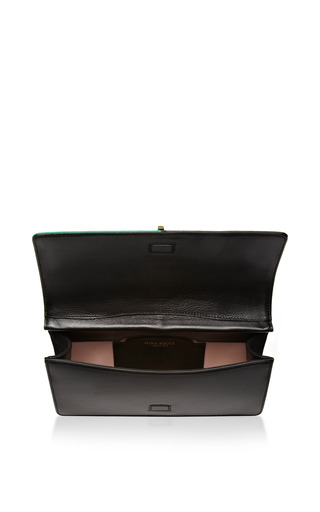 Arc Large Two Tone Leather Clutch by NINA RICCI Now Available on Moda Operandi