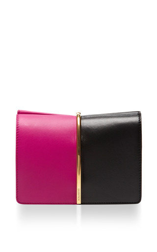 Medium nina ricci pink bicolor small pink black clutch
