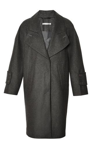 Medium carven dark grey compact wool coat