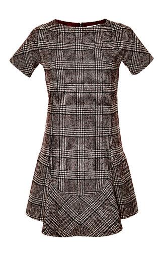 Medium carven multi prince of wales wool dress
