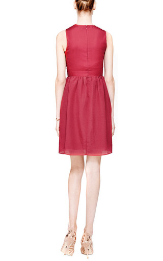 Cross Front Textured Silk Blend Dress by CARVEN Now Available on Moda Operandi