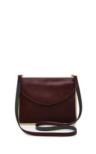 Medium carven burgundy pony skin handbag