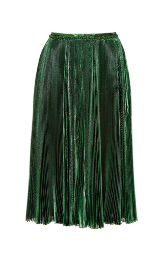 Medium rochas green lurex skirt