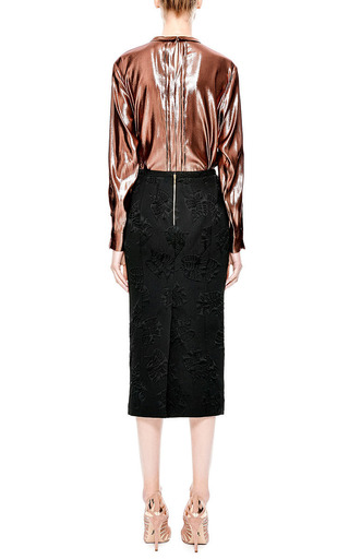 Bow Detail Lamé Blouse by ROCHAS Now Available on Moda Operandi