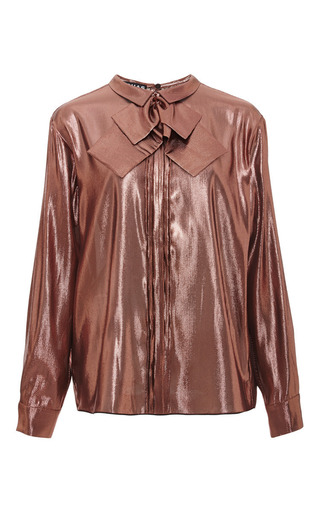 Medium rochas metallic metallic blouse