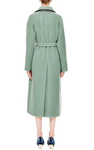 Wool And Cashmere Blend Belted Coat by ROCHAS Now Available on Moda Operandi