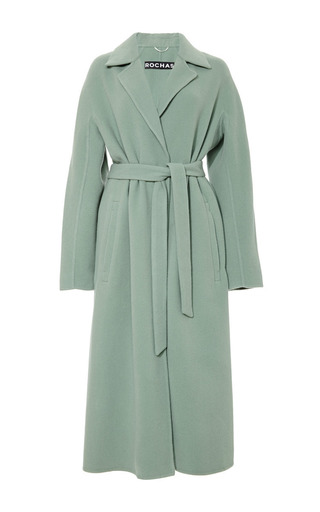 Medium rochas green belted coat