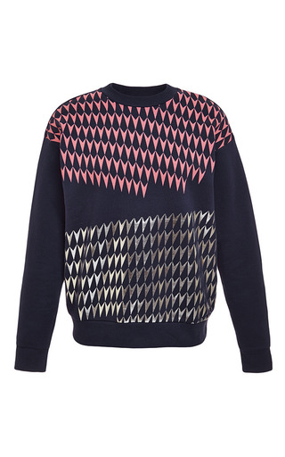 Medium etre cecile blue chevron foil boyfriend sweatshirt