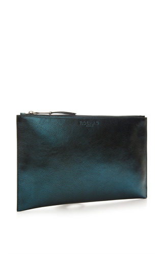 Leti Metallic Leather Clutch by ROCHAS Now Available on Moda Operandi