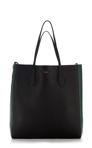 Medium rochas black two tone borsa leather tote