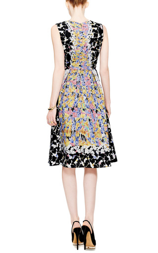 Rh Printed Cloqué V Neck Dress by PETER PILOTTO Now Available on Moda Operandi