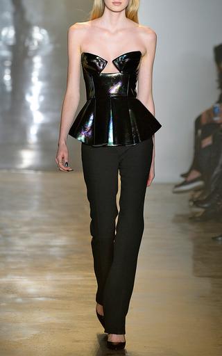 Leather Top by CUSHNIE ET OCHS for Preorder on Moda Operandi