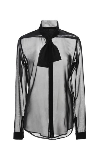 Medium cushnie et ochs black chiffon blouse