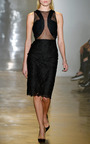 Lace With Chiffon And Georgette Dress by CUSHNIE ET OCHS for Preorder on Moda Operandi