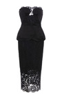 Duchess Satin With Lace Dress by CUSHNIE ET OCHS for Preorder on Moda Operandi