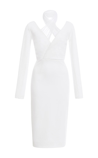 Oscar Jersey With Tulle Dress by CUSHNIE ET OCHS for Preorder on Moda Operandi