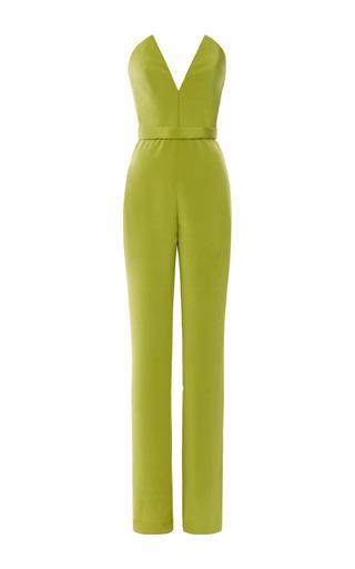 Medium cushnie et ochs green silk crepe jumpsuit