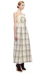 A Line Checked Dress by DELPOZO for Preorder on Moda Operandi