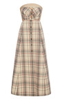 A Line Checked Dress by DELPOZO for Preorder on Moda Operandi