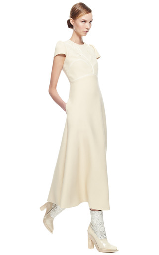 Wool Dress With Cape Cut Skirt by DELPOZO for Preorder on Moda Operandi