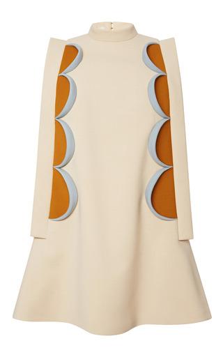 Medium delpozo white a line mini dress with patchwork