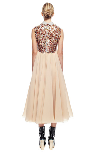 Dress With Embroidered Bodice by DELPOZO for Preorder on Moda Operandi