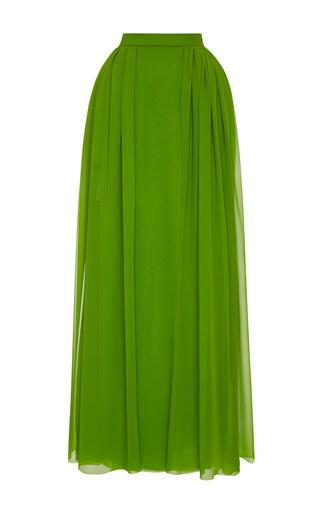 Medium delpozo green gathered silk skirt