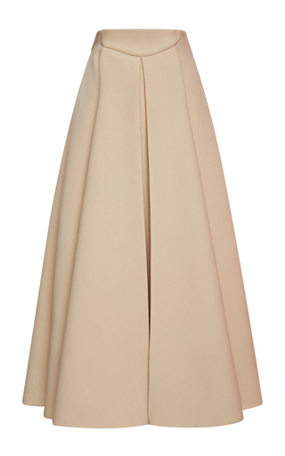 Medium delpozo white a line skirt with box pleats