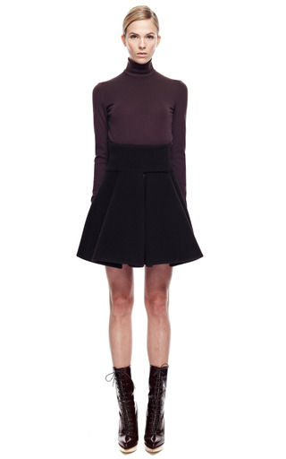 Short Cape Skirt With Wide Yoke by DELPOZO for Preorder on Moda Operandi