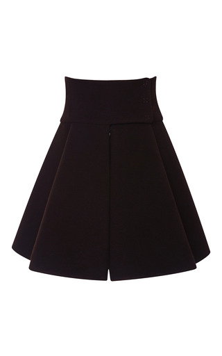 Medium delpozo brown short cape skirt with wide yoke