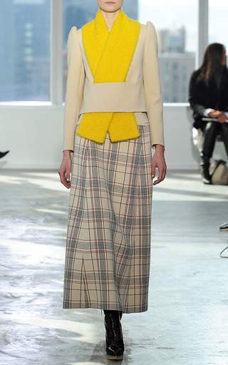 A Line Checked Ankle Length Skirt by DELPOZO for Preorder on Moda Operandi