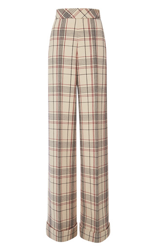 Medium delpozo print long wide pant with turn up 2