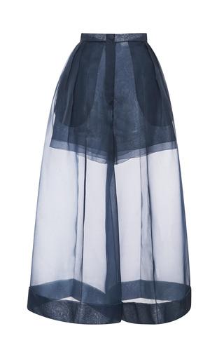 Medium delpozo blue organza pant with side pleats 2