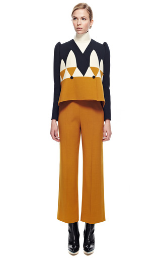Above Ankle Wide Pant by DELPOZO for Preorder on Moda Operandi